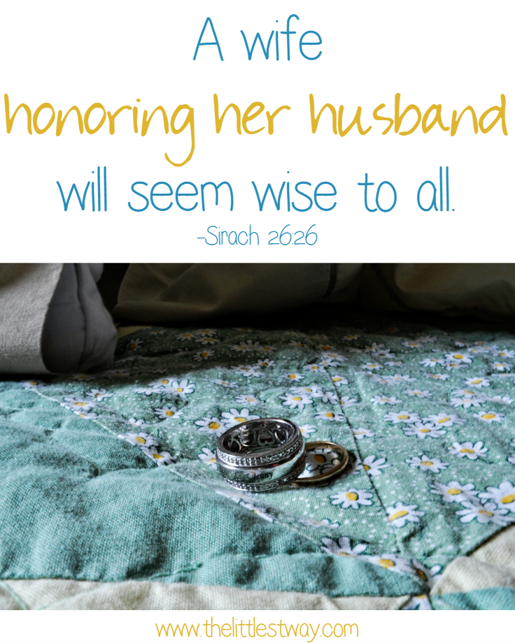 Sirach 26:26 A Good Wife Honors Her Husband