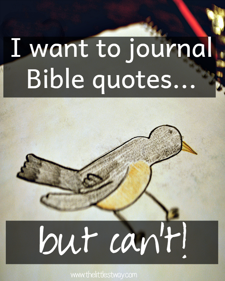 I want to journal Bible Quotes