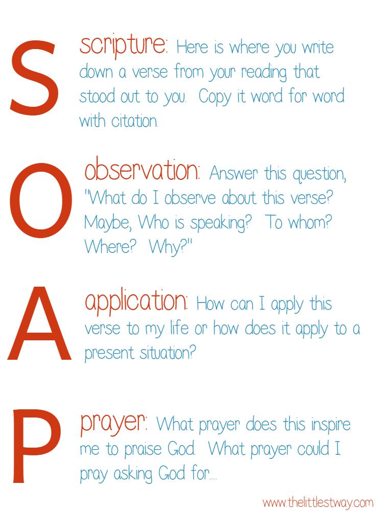 Inspiring Bible Quotes--SOAP Method