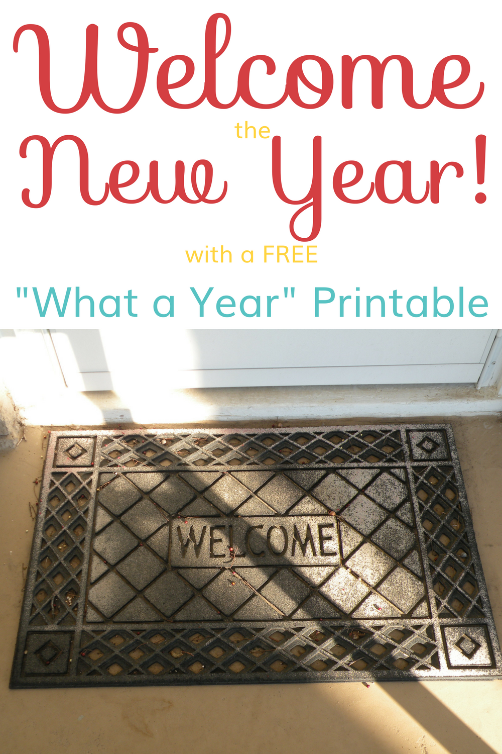 What a Year Free Printable