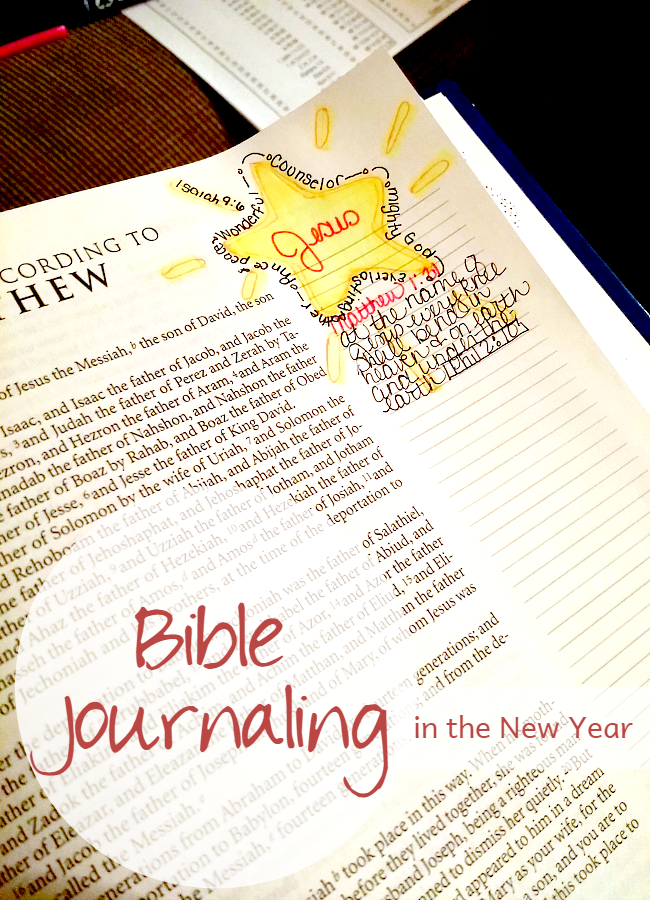 Bible Journaling in the New Year • The Littlest Way