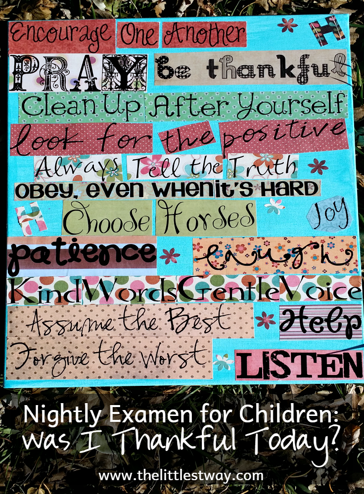 Nightly Examen For Children