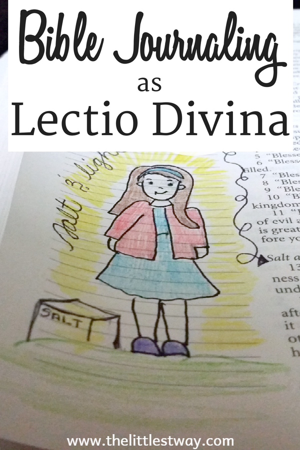 After reading a book about Lectio Divina I put it into practice with my Bible Journaling.