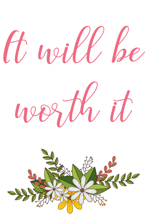 A printable set of daily affirmations for the New Year or anytime we need a reminder that everything we choose to do as a priority will be worth it.