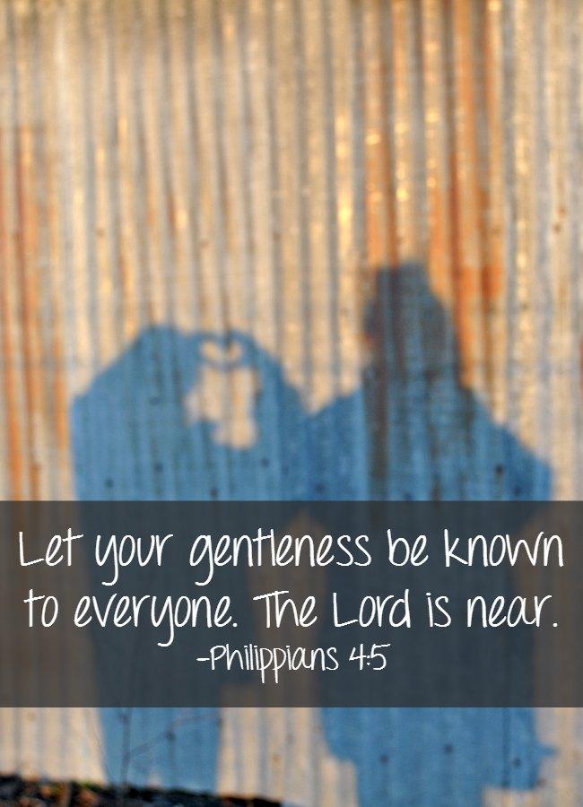 Bible Quotes: Gentleness