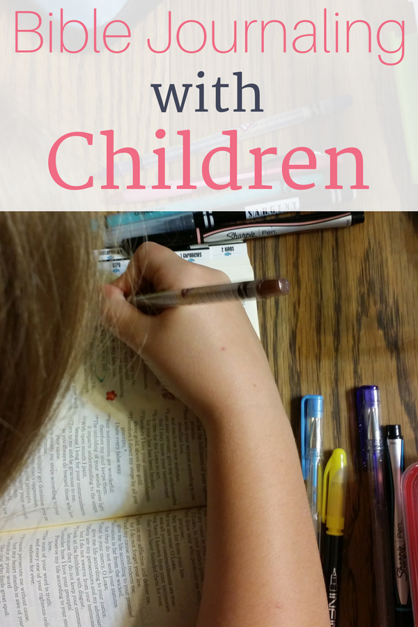 Ideas and Tips for Bible Journaling with children.