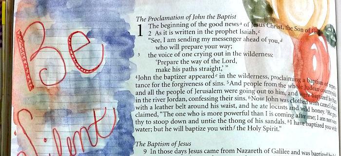 Bible Journaling: Be Silent