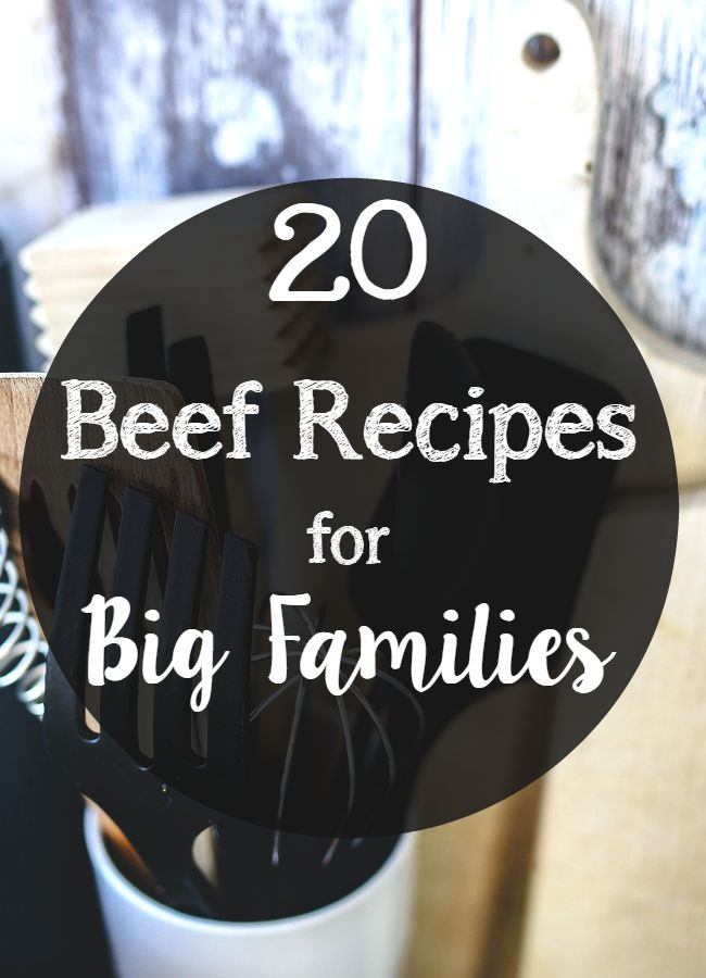 recipes for big families