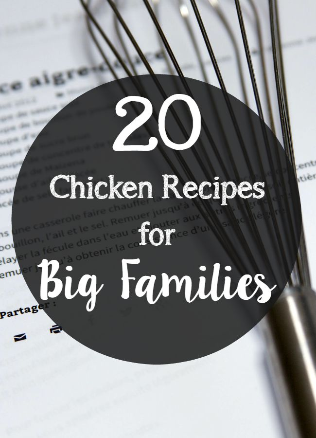 recipes for big families