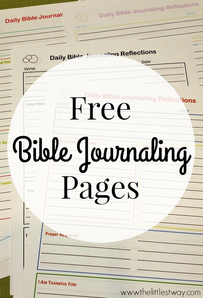 photograph about Printable Bible Journal Pages named No cost Bible Journaling Printables The Littlest Course