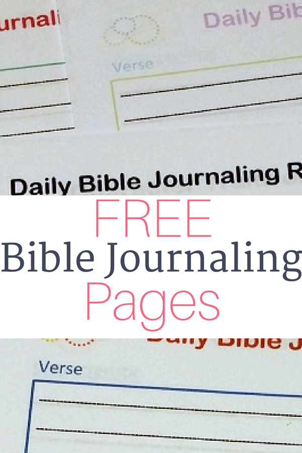 Free Bible Journaling Printables • The Littlest Way