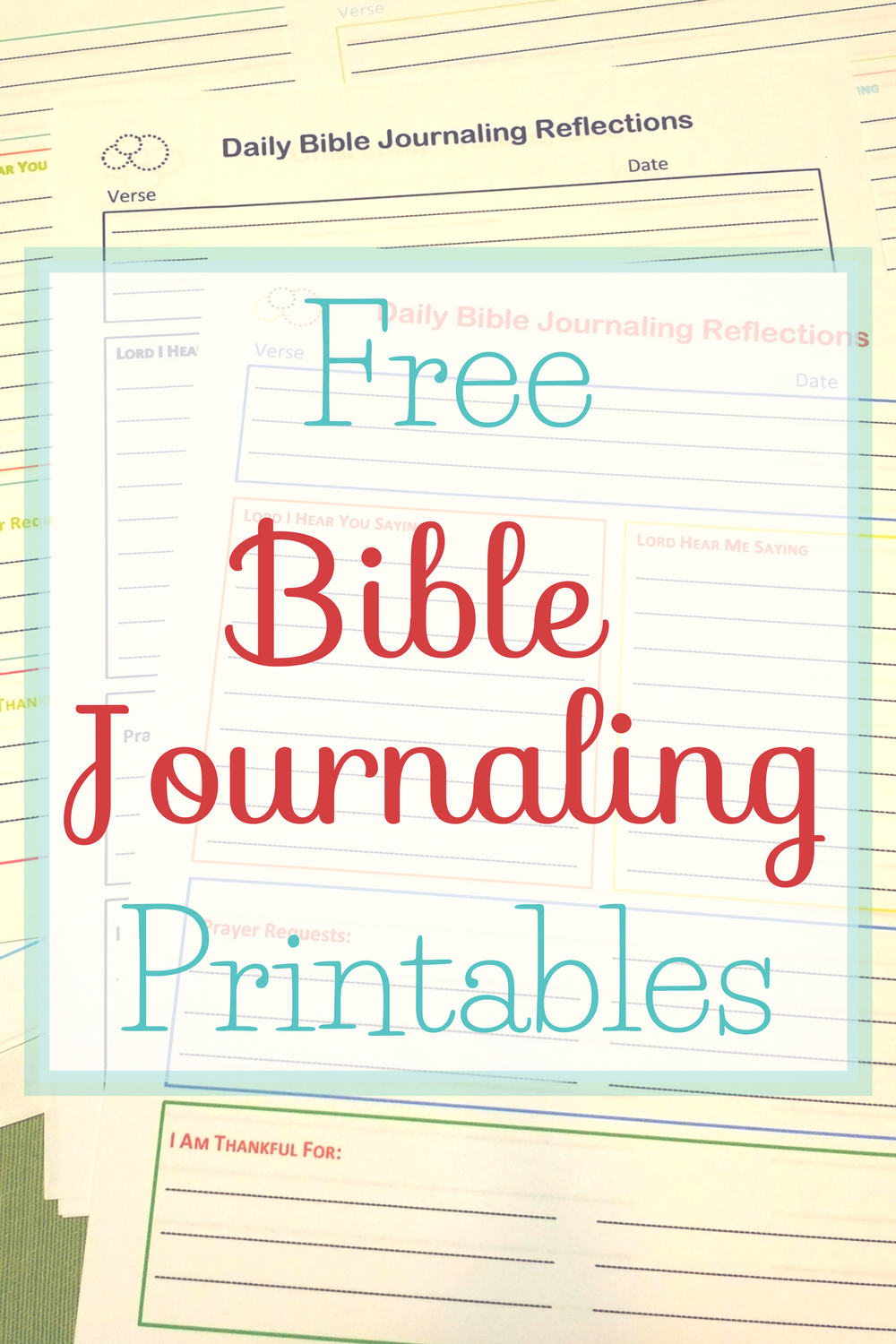 Nerdy image with printable bible journal pages
