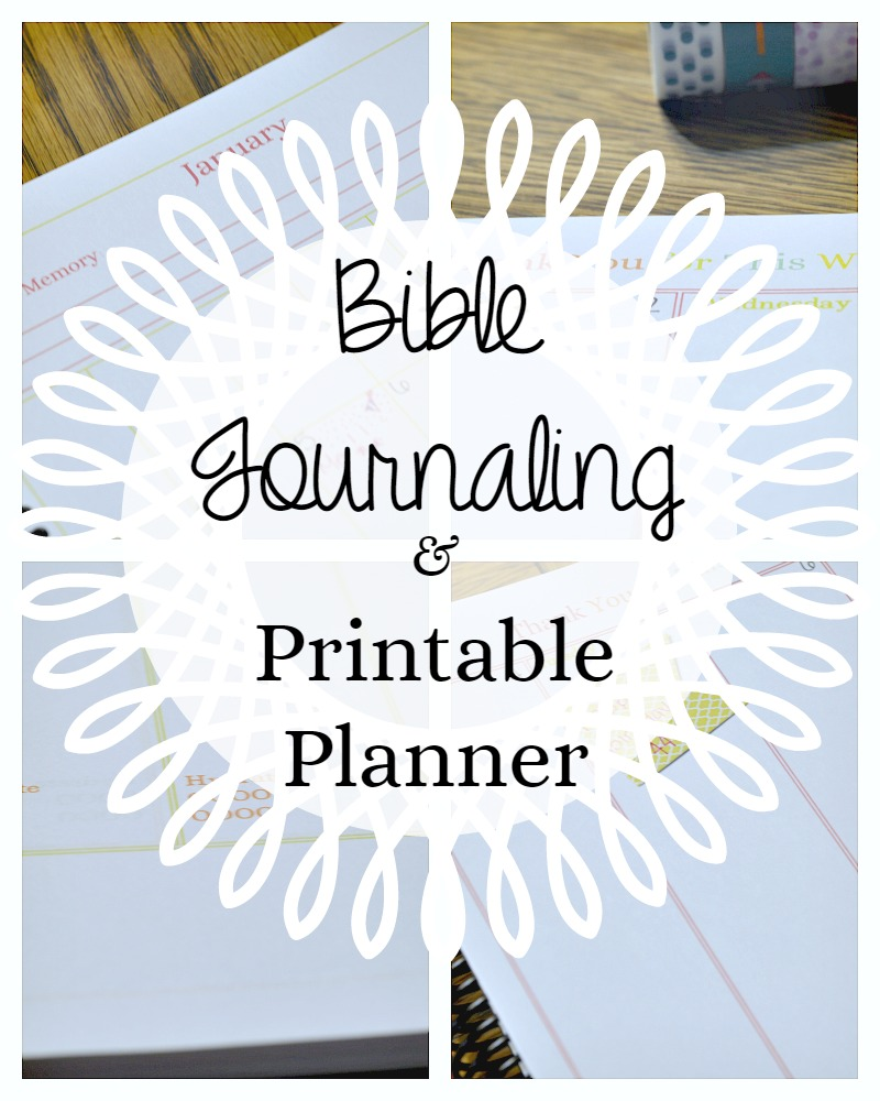 Printable planner and Bible journaling pages