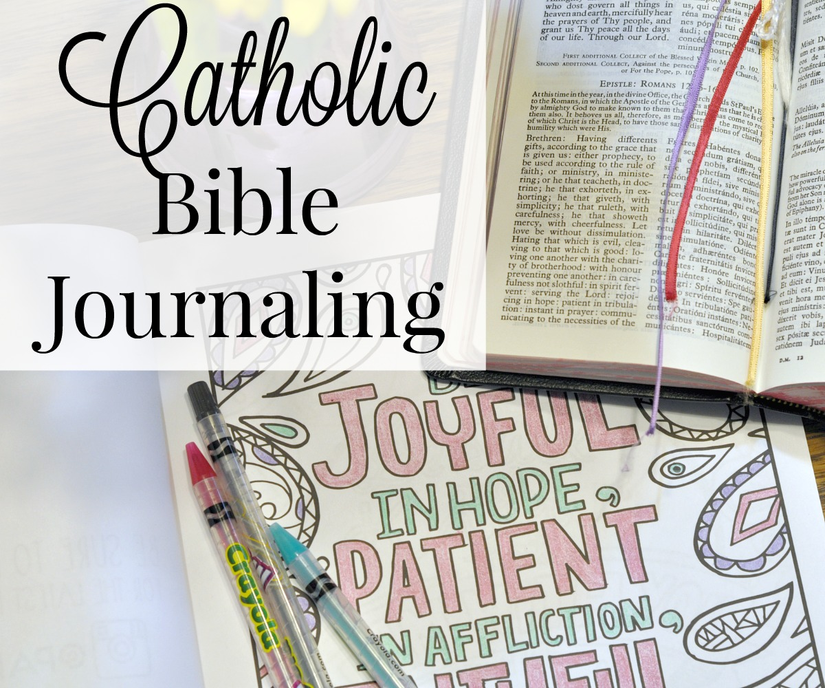 Catholic Bible Journaling • The Littlest Way