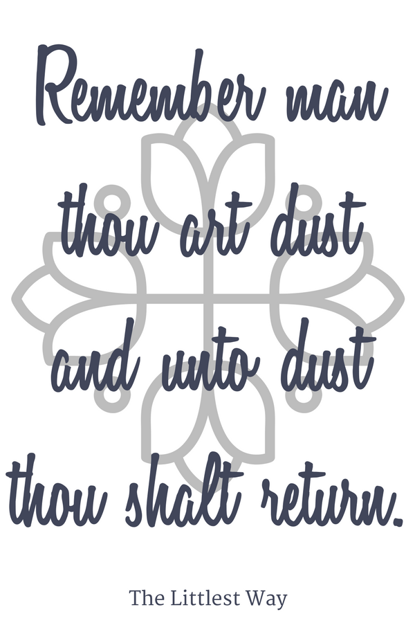 Daily Devotions for Lent Ash Wednesday quote.