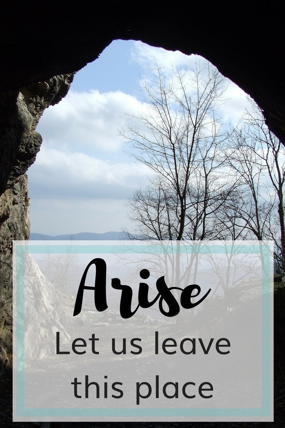 Arise, Let us leave