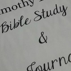 Bible Journaling Timothy
