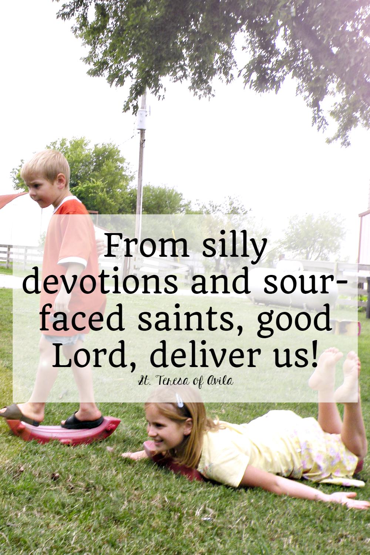 saint quote about joy