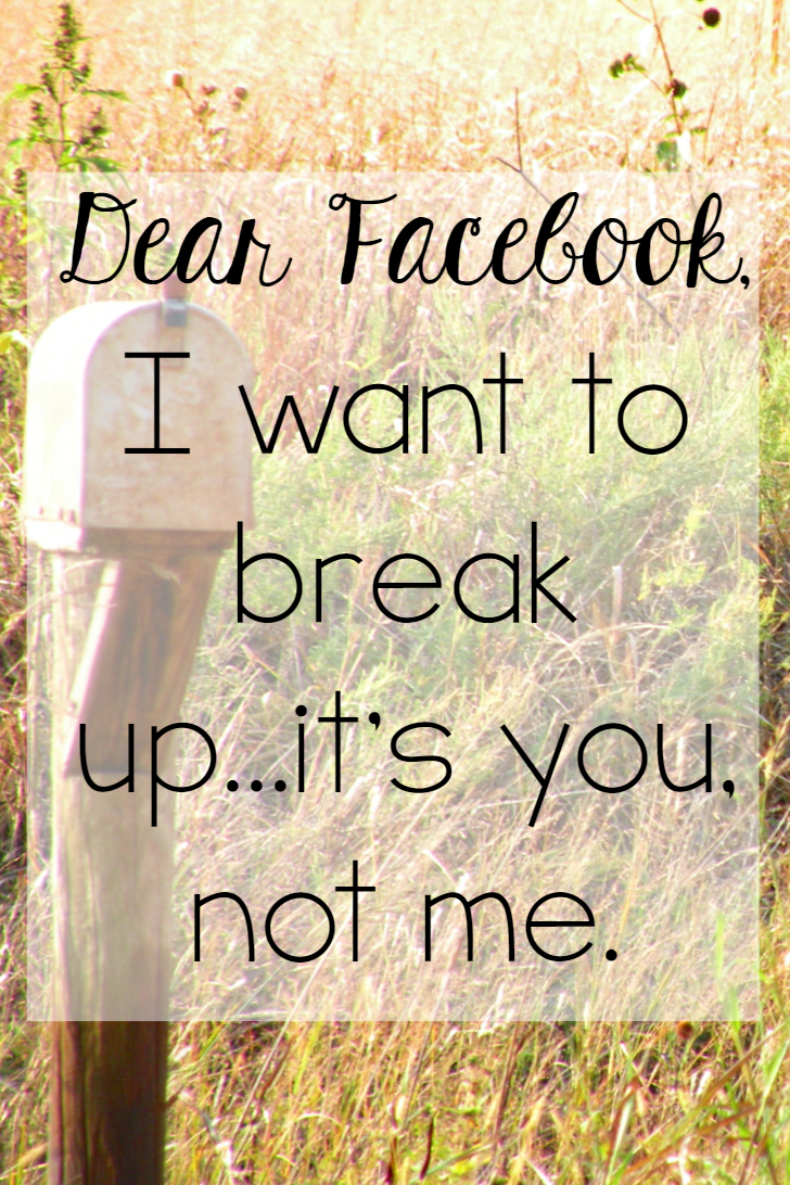 The Littlest Way: Dear Facebook
