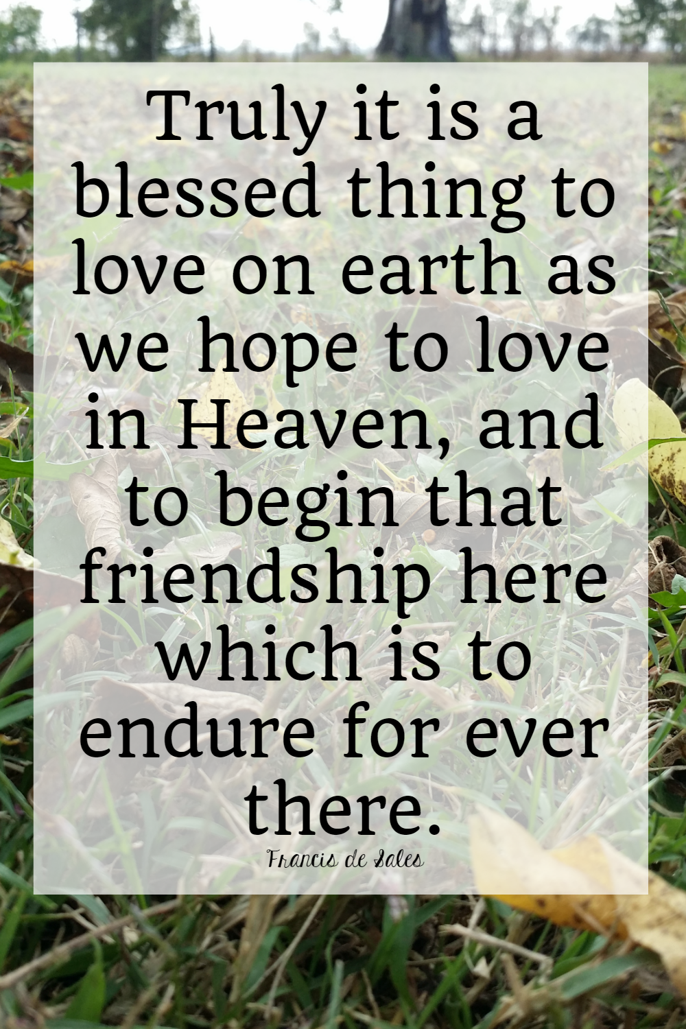 Saints Quotes Love On Earth The Littlest Way