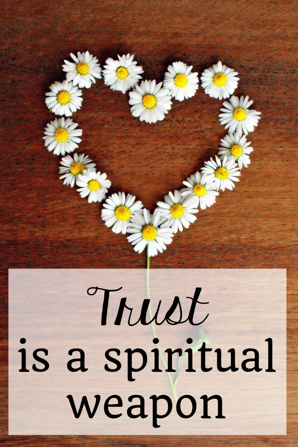 The Daybook at The Littlest Way: Trust is a Spiritual Weapon