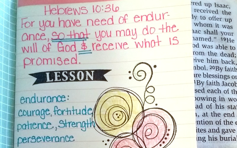 bible quotes about patience and bible journaling • The