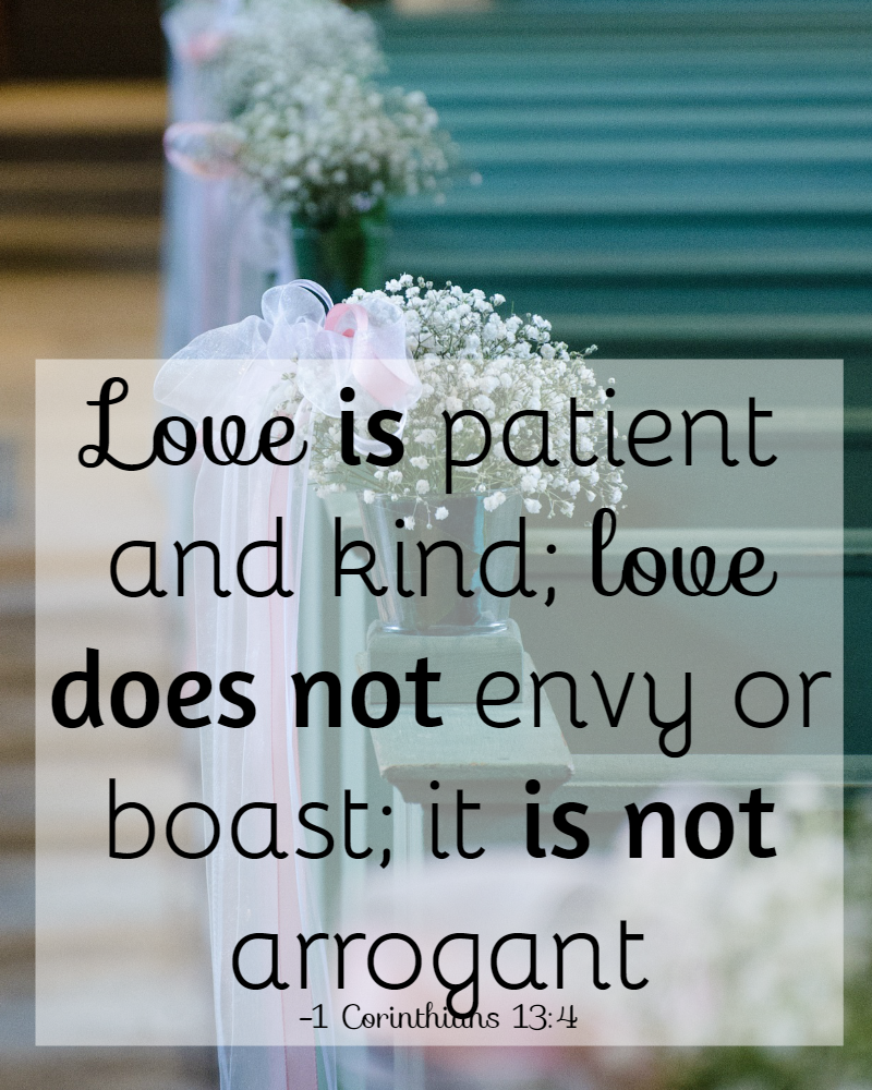 Bible Quotes On Love And Marriage 31 Days Of Bible Verses About Patience 1 Corinthians 134 • The