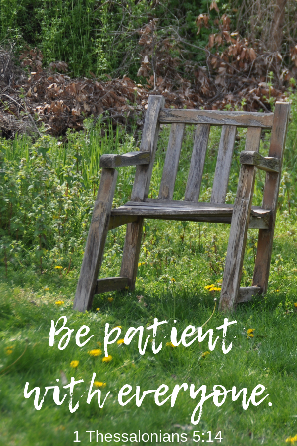 A reminder on Bible Verses About Patience and the need to be patient with everyone.