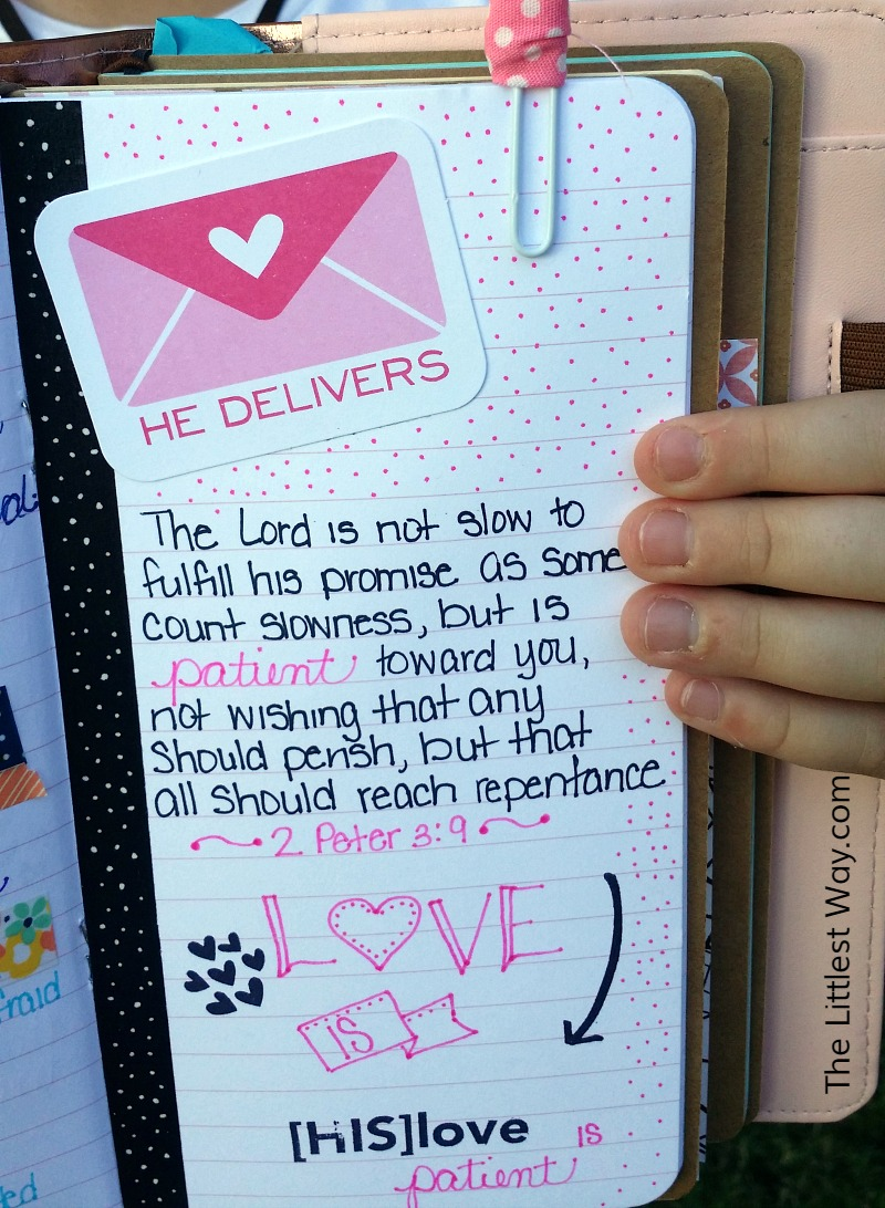 Bible Verses about Patience at The Littlest Way: 2 Peter 3:9...The Lord is not slow about His promises.
