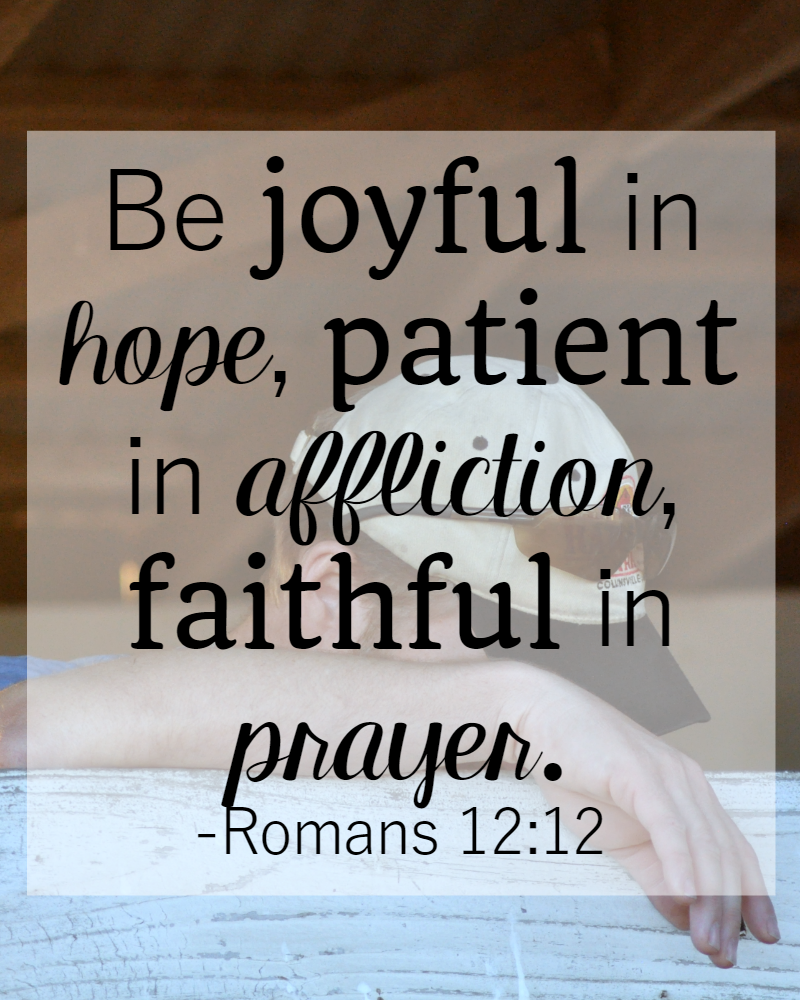Bible Quotes About Hope 31 Days Of Bible Verses About Patience Romans 1212 • The