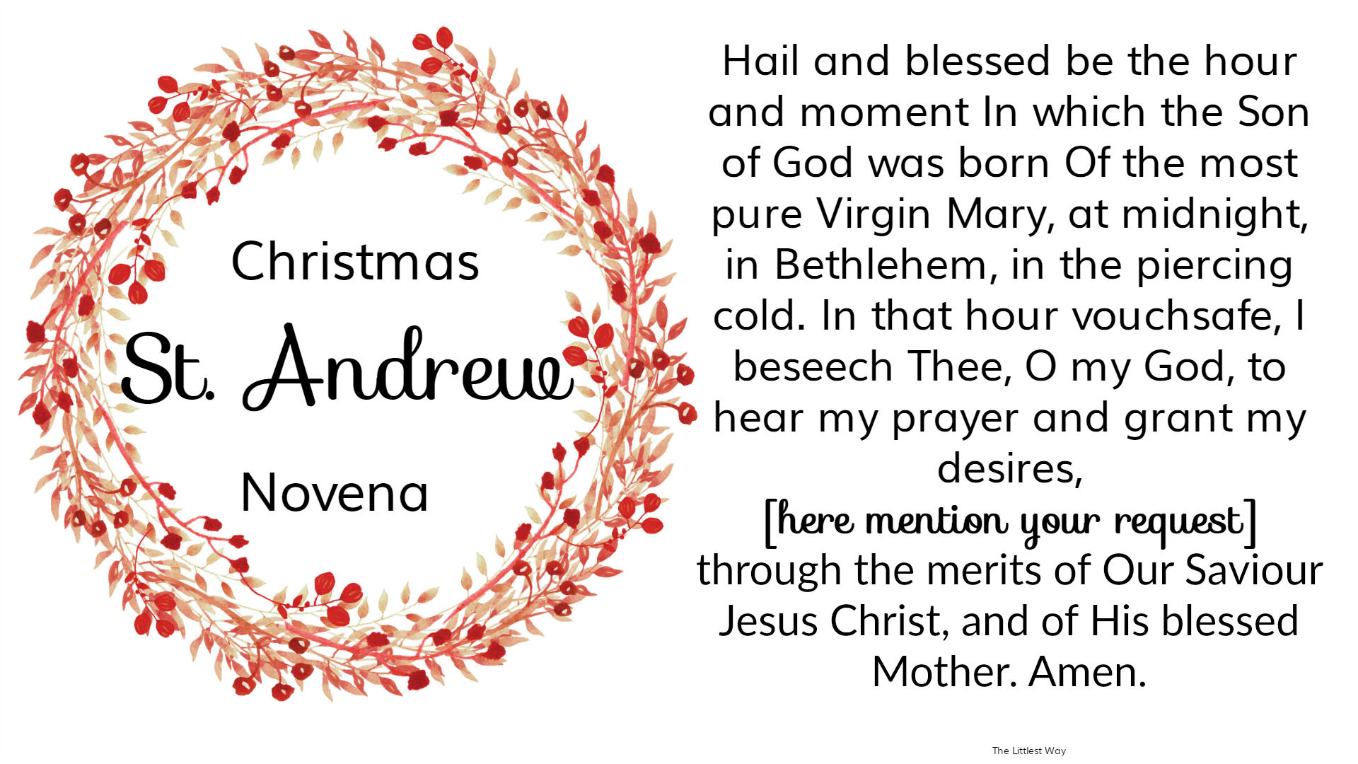 picture relating to St Andrew Novena Printable identify st-andrew-xmas-novena-desktop-wallpaper The Littlest Course