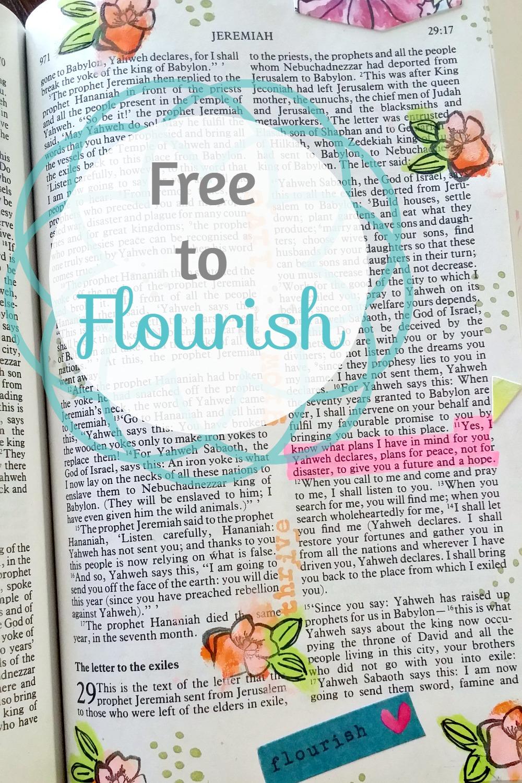 Free to Flourish Bible Journaling