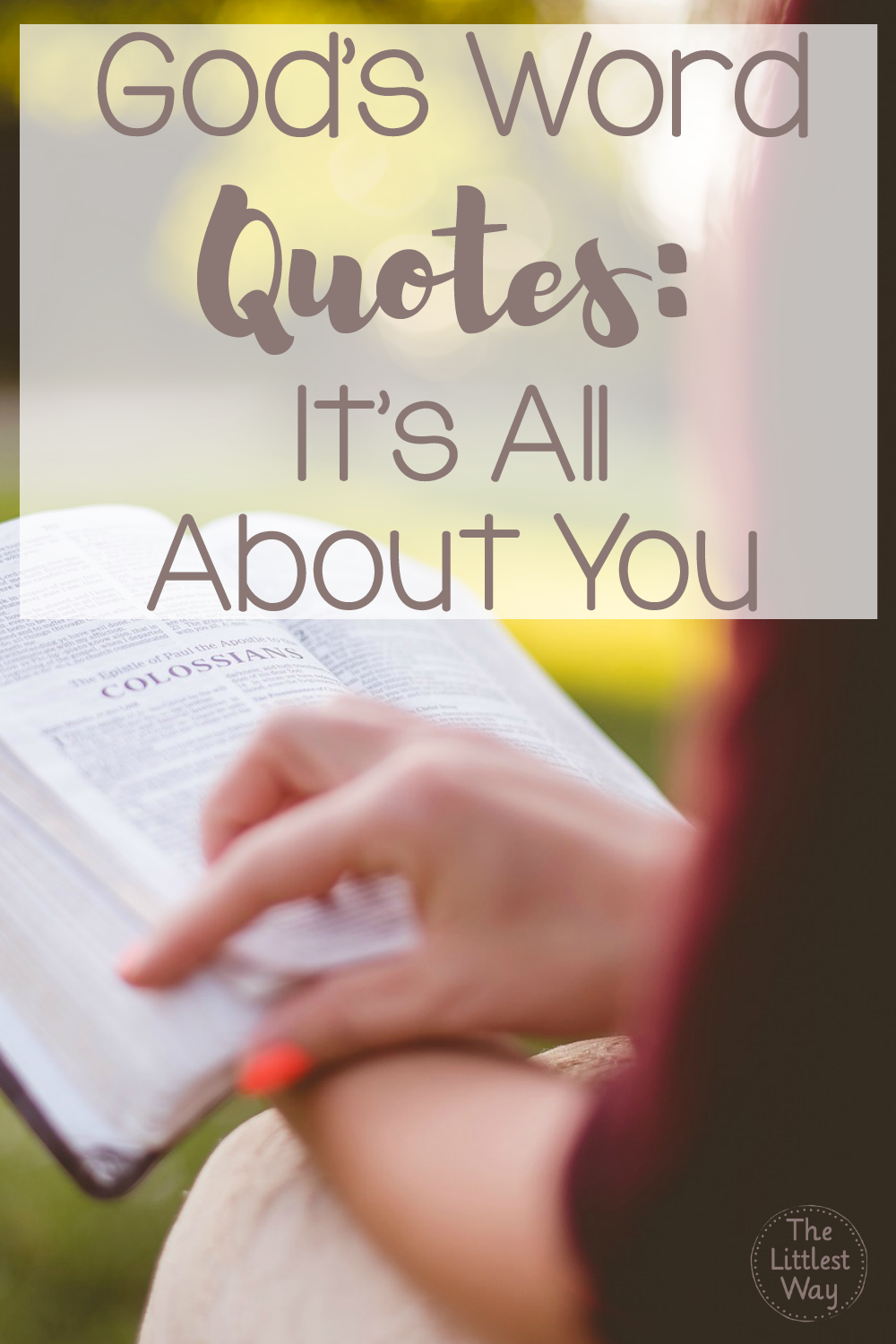 This post in God's Word Quotes is all about reading the Bible for yourself before you read it for others.