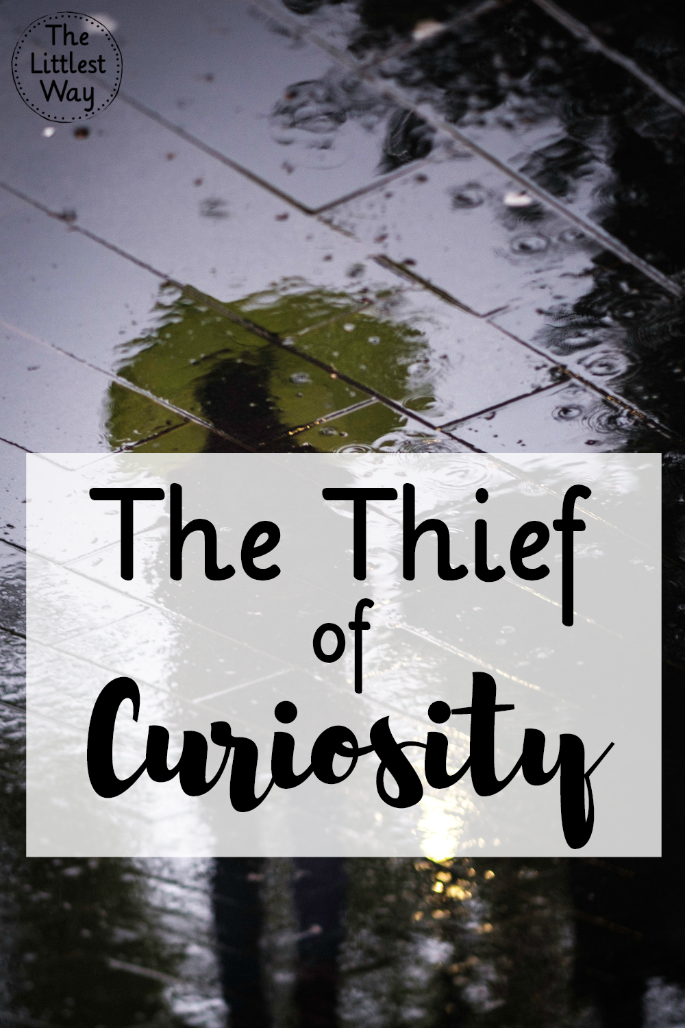 Curiosity is a thief that only comes to kill, steal, and destroy. Sound familiar? Sounds like a tactic of the enemy to me.