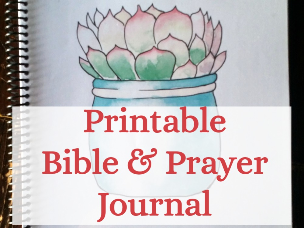 Bible and Prayer Journal Printable Pages