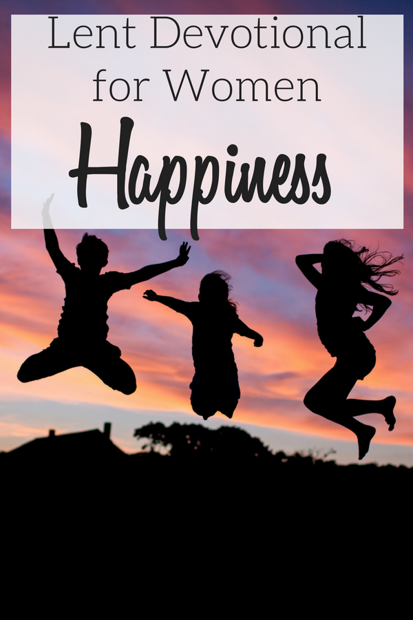 Children jumping to represent happiness, the focus of this Lent Devotional for Women.