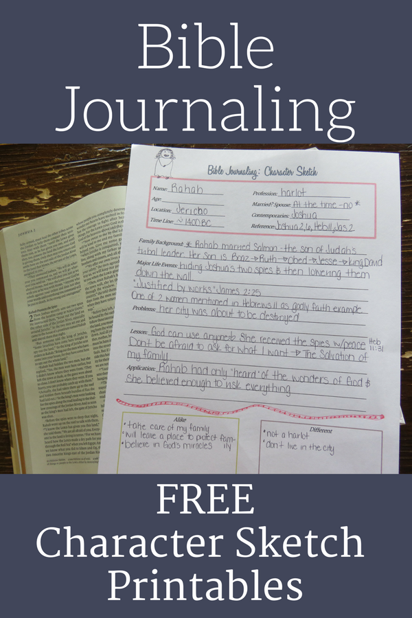 Free Bible Journaling Printables across an open Bible.