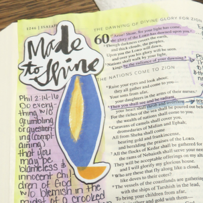 Catholic Journaling Bible: Made to Shine