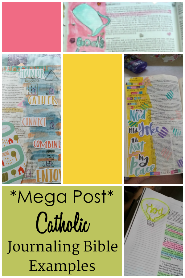 Catholic Journaling Bible Mega Post Filled with Examples.