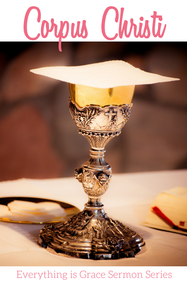 An image of a Catholic Chalice in talking about the fruits of Holy Communion for an Everything is Grace Sermon Series.