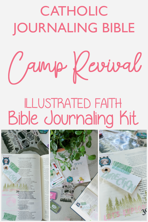 Catholic Journaling Bible using the Illustrated Faith Camp Revival Kit.