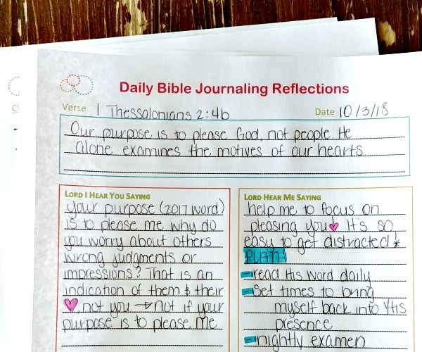 Daily Bible Journaling Printables