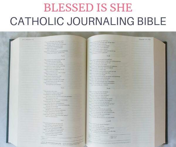 Blessed is She Catholic Journaling Bible picture inside.