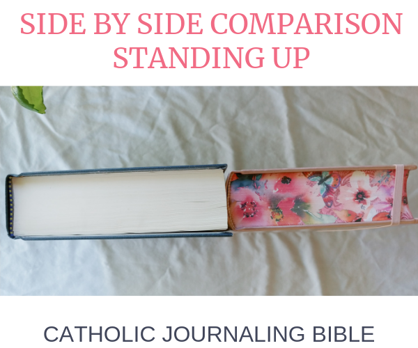 Catholic Journaling Bible side by side comparison.
