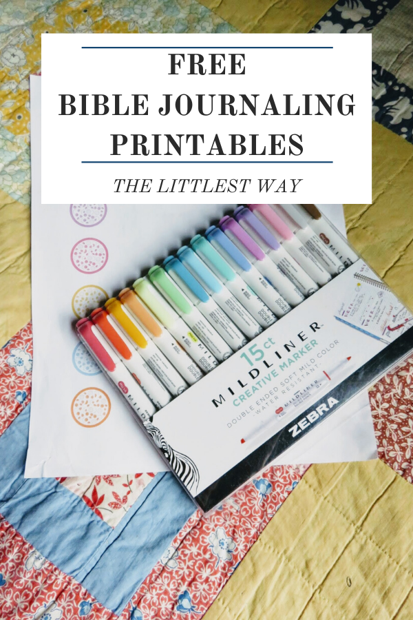 A set of free Bible Journaling Pages